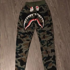 Other - ❌SOLD❌Bape camo shark pants off brand size small